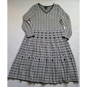 Ashro fit and flare knit sweater dress diamond 3X